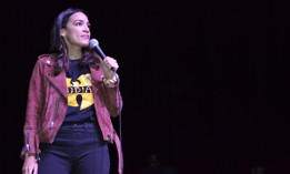 Rep. Alexandria Ocasio-Cortez took the stage in a downtown Buffalo theater to support Buffalo mayoral candidate India Walton.